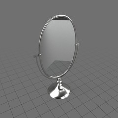 Oval tabletop mirror
