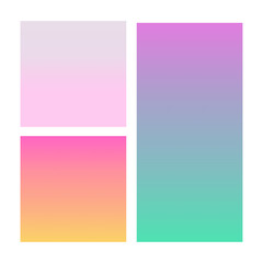 Set of abstract vector backgrounds blue, pink, purple and orange.