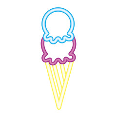 ice cream scoop delicious neon design