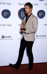Noel Gallagher from Noel Gallagher's High Flying Birds, whose album 'Who Built the Moon?' has been nominated for the Mercury Prize 2018, poses for a photograph ahead of the ceremony at the Hammersmith Apollo in London