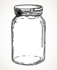 Hand drawn mason jar