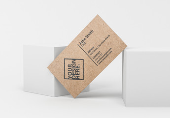 Brown Business Card Mockup