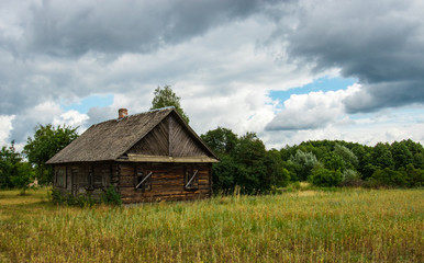 old wooden house in eastern Poland
