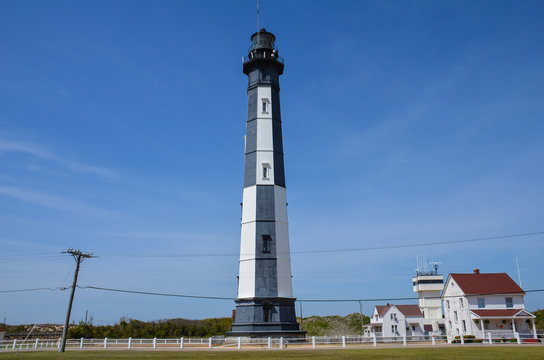 The New Cape Henry Lighthouse in Virginia Beach, Virginia marks the southern entrance to Chesapeake Bay