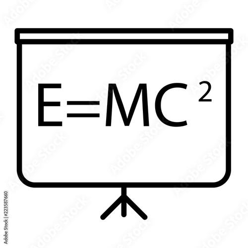 Blackboard icon in thin outline style  Education school college