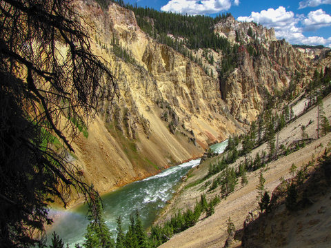 Lower falls in Yellowstone National Park, USA