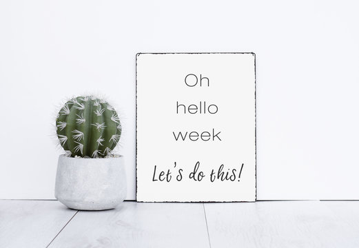 Oh hello week let's do this it text quote motivation for a new work week monday morning have a nice week