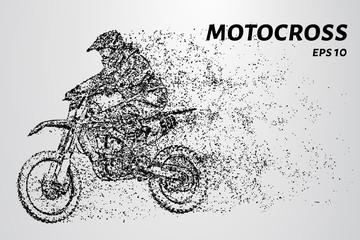 Motocross rider silhouette.