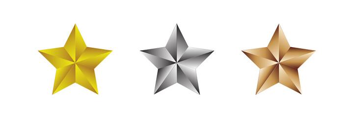 Star Award icon and logo set 1