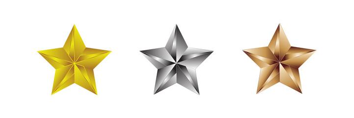 Star Award icon and logo set 2