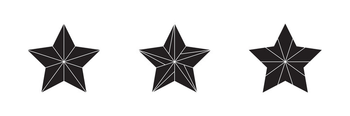 Star Award icon and logo set in black and white