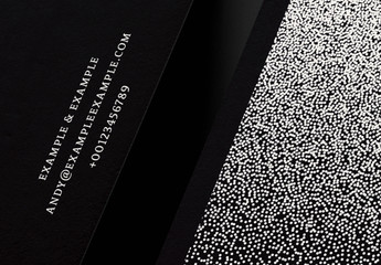 Business Card Layout Set with White Dotted Elements