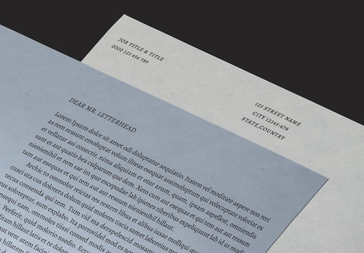 Minimalist Letterhead Layout Set