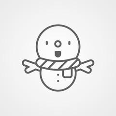 Snowman vector icon sign symbol