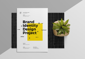 Brand Identity and Proposal Layout with Yellow Accents