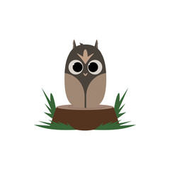 Owl on Stump