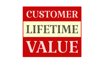 Customer Lifetime Value - written on red card on white background
