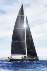 Wall Mural - Sailing, sail yacht in regatta.