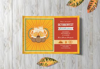 Oktoberfest Invitation Layout