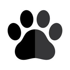 Dog paw vector footprint icon logo graphic symbol illustration french bulldog cat bear cartoon