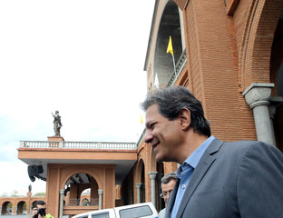 Presidential candidate Haddad of the Workers Party attends a campaign rally at the Basilica of the National Shrine of Our Lady of Aparecida, in Aparecida do Norte