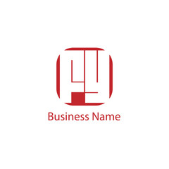 Initial Letter FY Logo Template Design