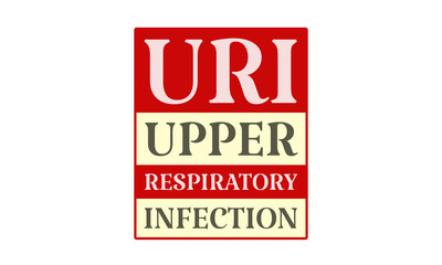 Uri Upper Respiratory Infection - written on red card on white background