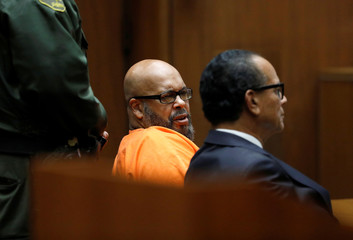 "Marion ""Suge"" Knight appears in Los Angeles Superior Court for a fatal 2015 hit-and-run in Los Angeles"