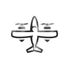 Halftone Icon - Vintage airplane
