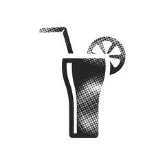 Halftone Icon - Cocktail drink