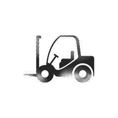 Halftone Icon - Forklift
