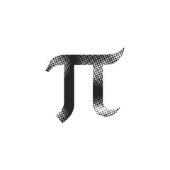 Halftone Icon - Greek pi