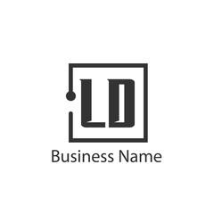 Fototapeta Initial Letter LD Logo Template Design obraz
