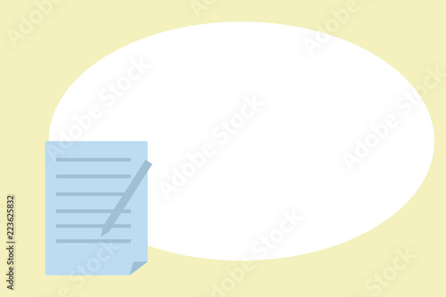 Flat Design Business Vector Ilration Concept Empty Template E Text For Promotion Website And Advertising Ad Blurred Unclear Sheet Of Pad Paper With