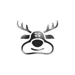 Halftone Icon - Reindeer
