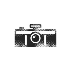 Halftone Icon - Panorama camera