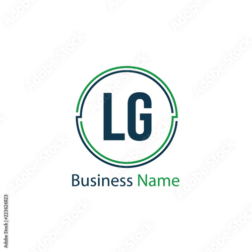 Initial Letter LG Logo Template Design