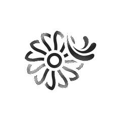 Halftone Icon - Water turbine