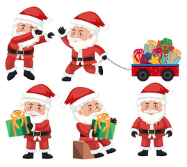 A set of santa action