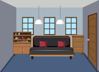 Interior od modern bedroom