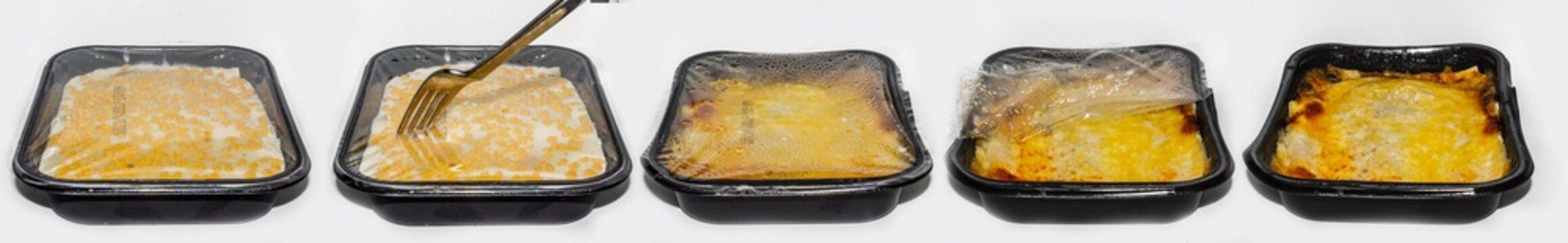 microwave food lasagna