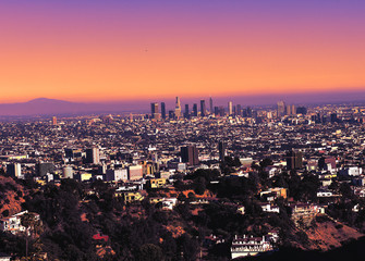 LA View from Hollywood Hill
