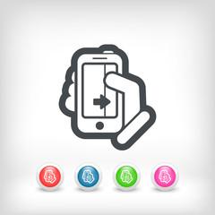Touchscreen sliding icon