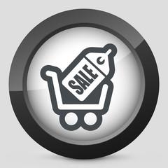 Sale cart icon