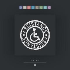 Handicap assistance stamp icon