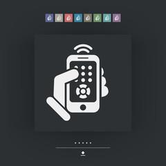 Smartphone remote control icon