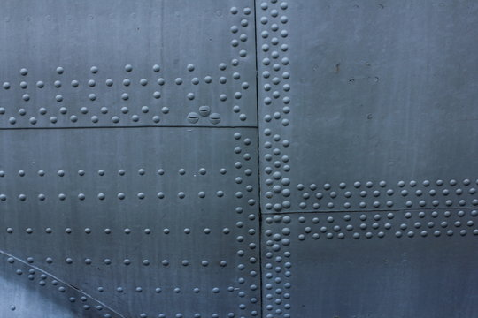 Aircraft skin texture. Surface of the aircraft fuselage.