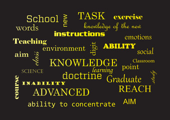School. Collage of words Vector illustration