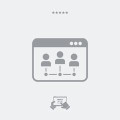 Network box computer icon