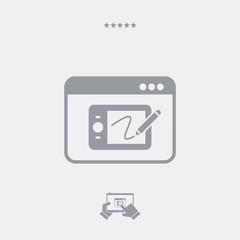 Designer tablet application - Vector flat minimal icon